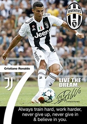 Tainsi Ronaldo Juventus Poster Motivational Signed (copy), A3 Poster/wall Art/print A3 420mm X 297mm